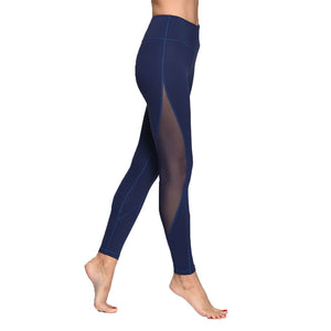 Yoga & Gym Leggings -  Women's Full Length Mesh Workout Sports Tights