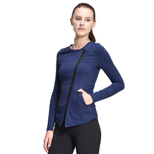Fitness Jacket - Slim Sport Jacket, Stretchable, Full Zip-Up, Workout Coat