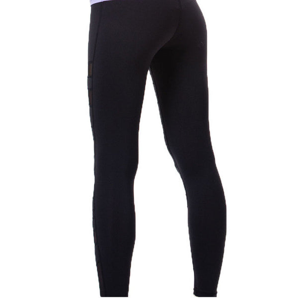 Yoga Pants - Active Mesh Leggings with Thick Waistband Control for Yoga and Gym