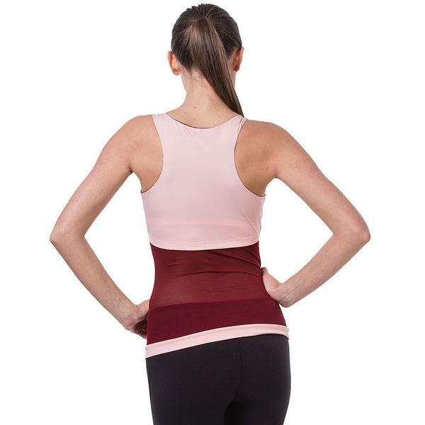 Yoga T-Shirt - Activewear Sleeveless Racerback Lace Tank Top Shirt for Yoga and Gym
