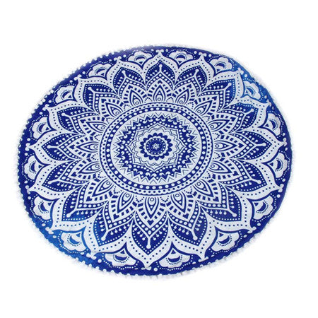 Mandala Pillow Case -  Big Round Bohemian Meditation Mandala Cushion Covers