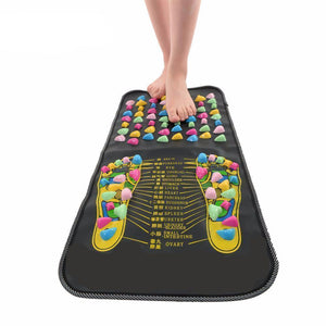 Reflexology Mat -  Chinese Reflexology Walk Stone Mat, Acupressure and Pain Reliever