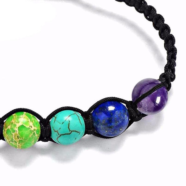 Rainbow Chakra Bracelet - Life Energy Stone Beads Bracelet with Healing and Balance Qualities