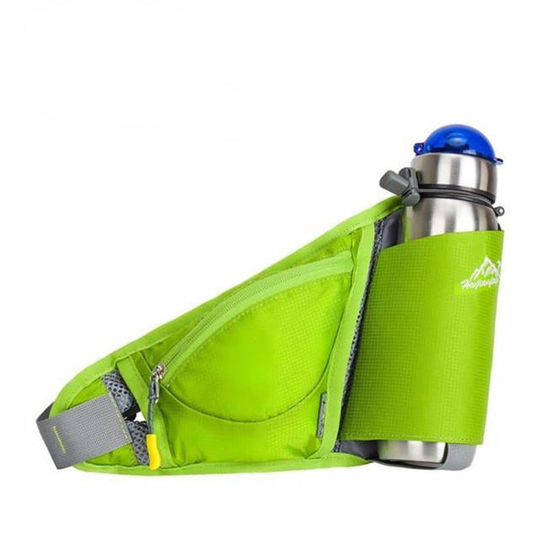 Waterproof Bottle Holder - Hydration Waist Pack, Lightweight Outdoor Sports Belt Water Bottle Holster with Zip Pouch.
