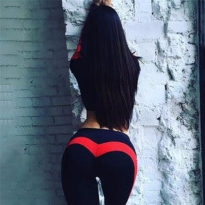 Yoga Pants - Sexy Peach Hips, Heart Shape, Spandex Fitness Tights