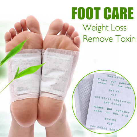 Foot Wrap - 10Pcs Foot Care Weight Loss Toxin Remover Exfoliating Wraps
