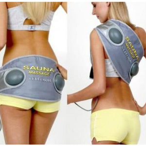 Vibrating Massage Belt - 2 in 1 Professional Vibrating Slimming Heating Sauna Massage and Belly Fat Burner Belt