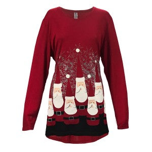 Santa Bowling Pen Tunic - Crazy Peacock Boutique