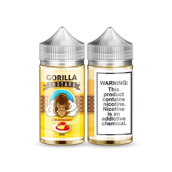 Gorilla Custard Strawberry 100ml (3617295859806)