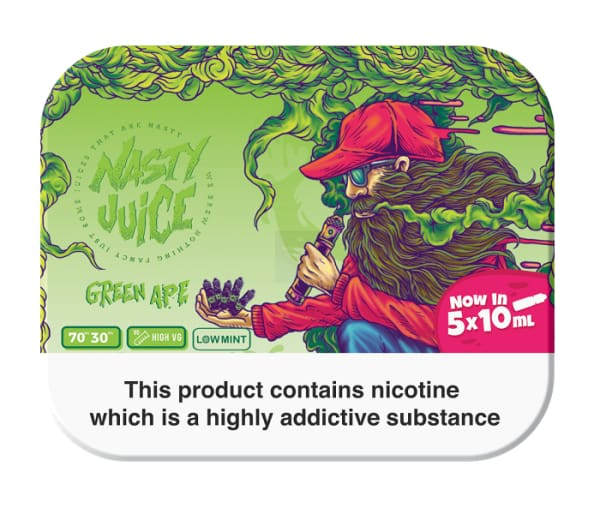 Nasty Juice Green Ape 5 X 10Ml Pack E-Liquid (10928569991)