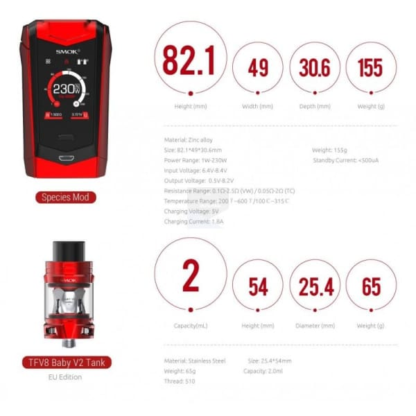Smok Species Kit 230W Vape Kits