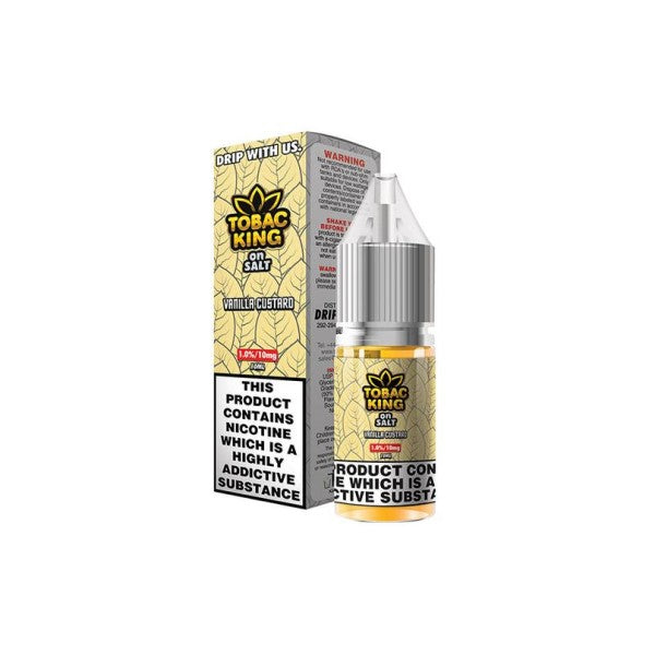 Vanilla Custard Tobac King Nic Salt 10ml (4350566498398)