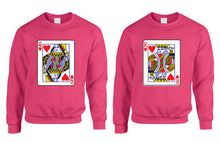 King and Queen Cards couples Sweatshirts valentine day Gift