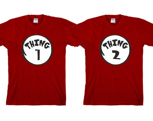 Thing1 & Thing2 T-shirts For Kids