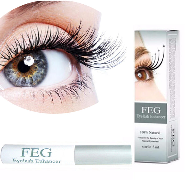 Don't Like Falsies? Grow SUPER DARK, THICK Eyelashes Of Your Own!! 100% Authentic 'FEG', Herbal Eyelash Growth Serum!
