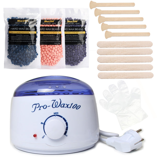 Salon Waxing, In The Privacy Of Your Own Home! :o Bean & Warmer Kettle Bundle, Generous 3-Bag, 300g Supply! Rainbow Set.
