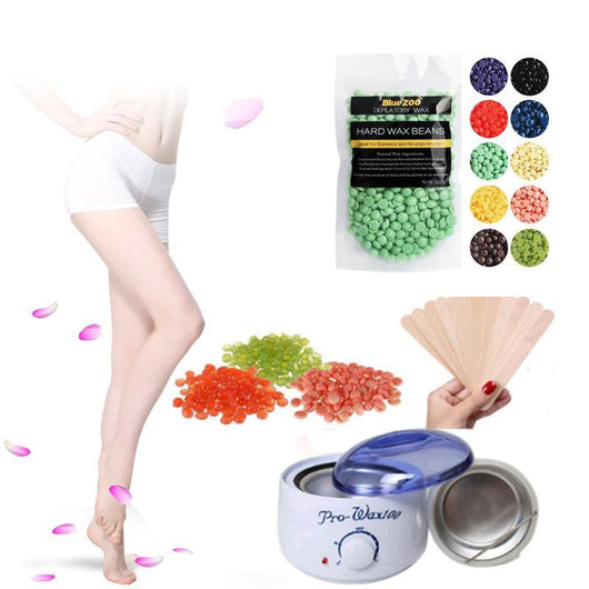 Salon Waxing, In The Privacy Of Your Own Home! :o Bean & Warmer Kettle Bundle, 1-Bag, 100g Supply Starter Kit! Rainbow Set.