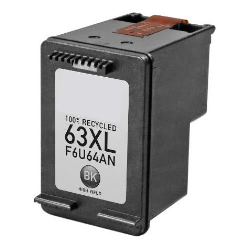 HP F6U64AN  63XL Remanufactured Ink- Black