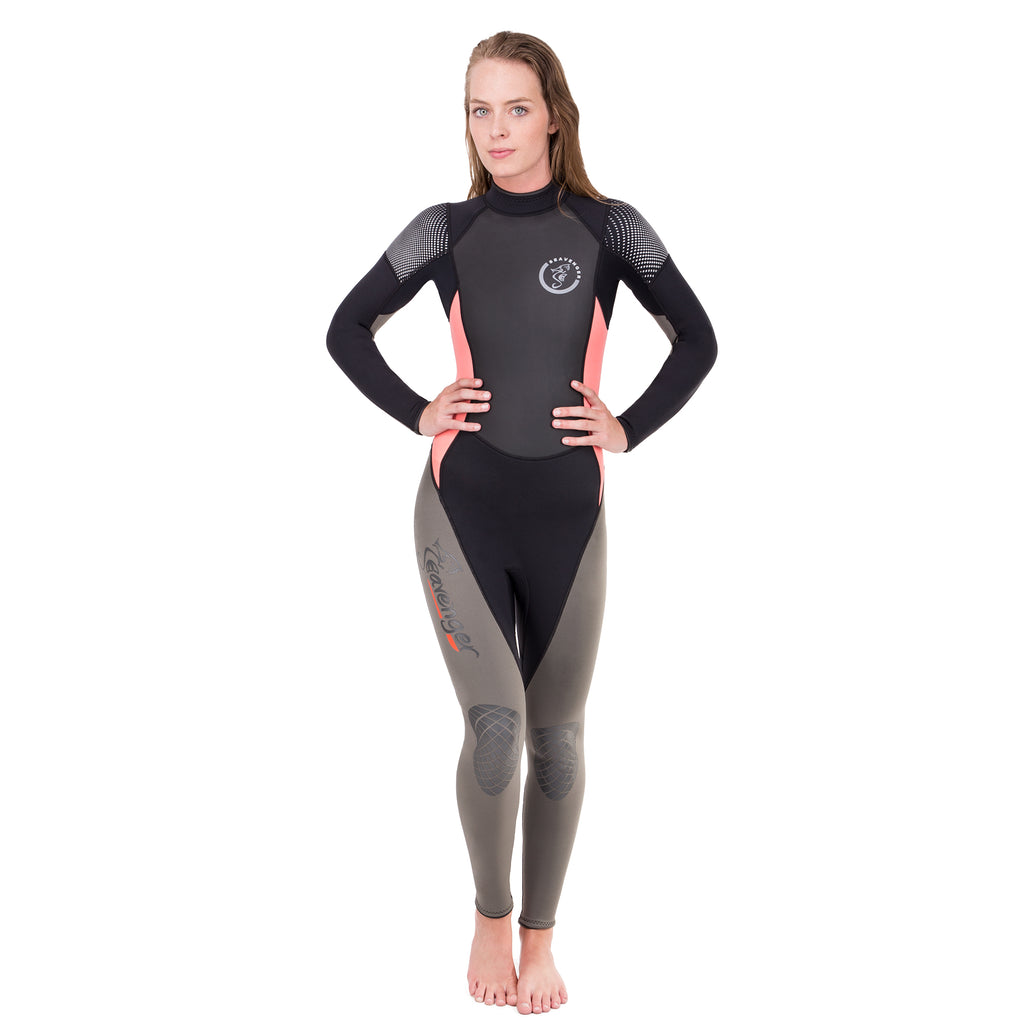 women's coral full wetsuit