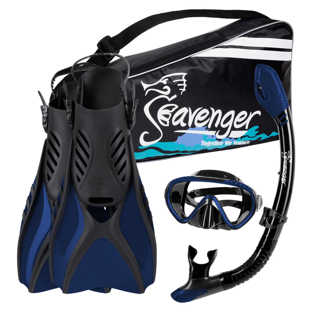 dark blue snorkel set