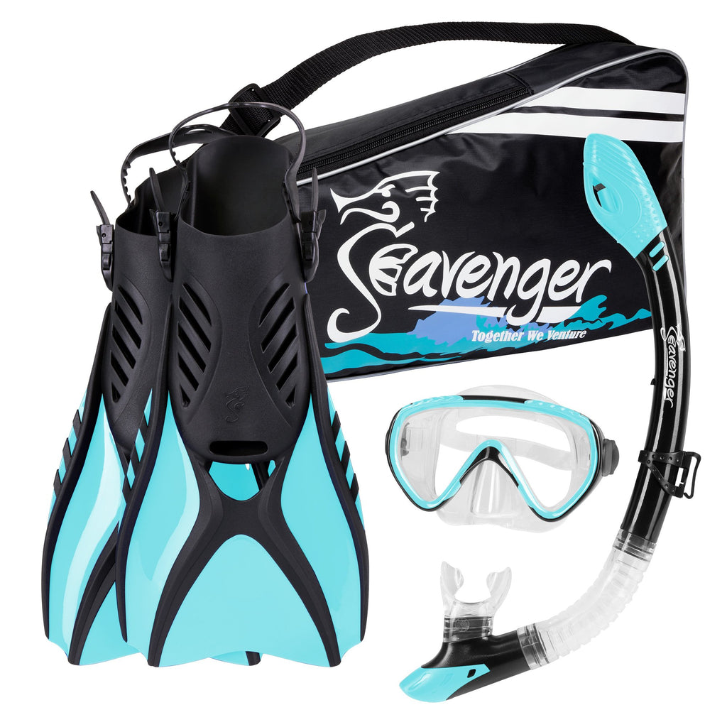 light blue snorkel set