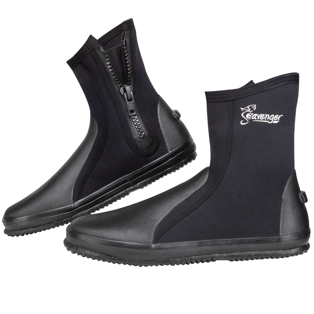 Tall Tortuga Dive Boots - Black