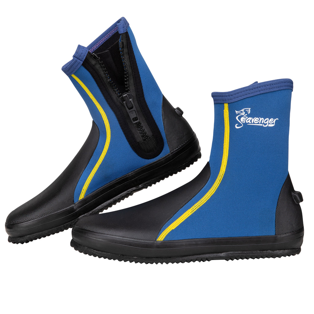 Tall Tortuga Dive Boots - Blue