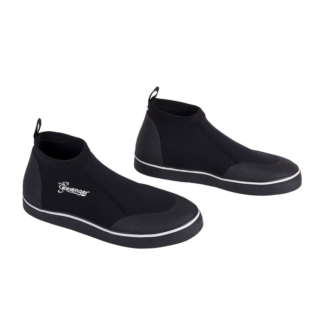 short black slip on scuba shoes