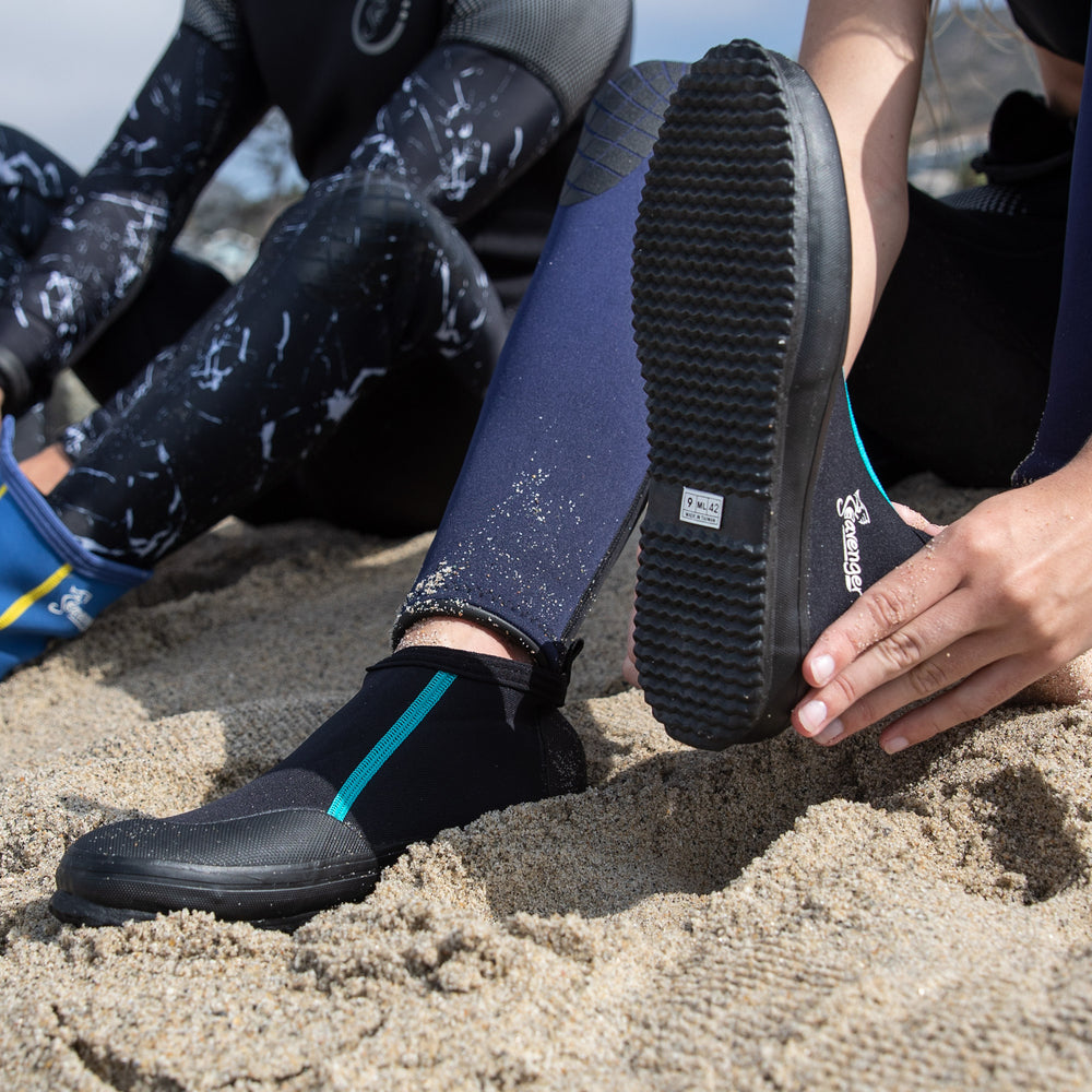 Tortuga Ankle Dive Booties - Black/Teal