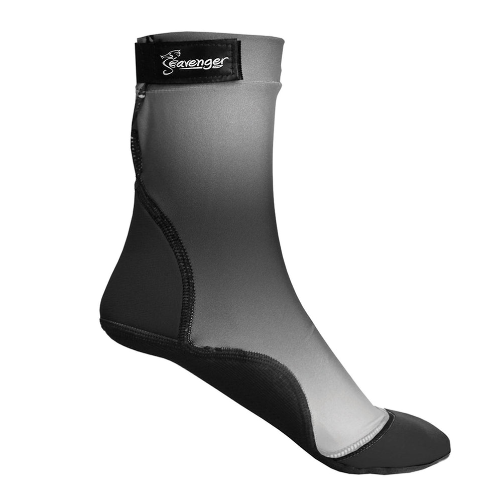 Tall gray beach socks for sand volleyball or beach soccer