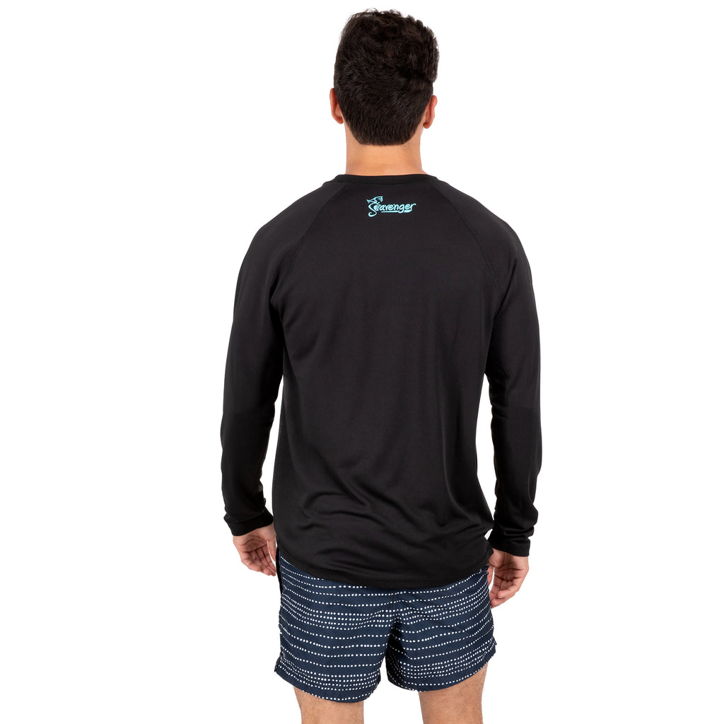Trekker Unisex Rash Guard Long Sleeve Black