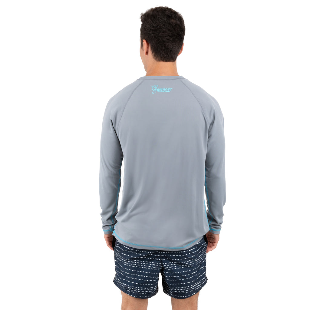 Trekker Unisex Rash Guard Long Sleeve Gray