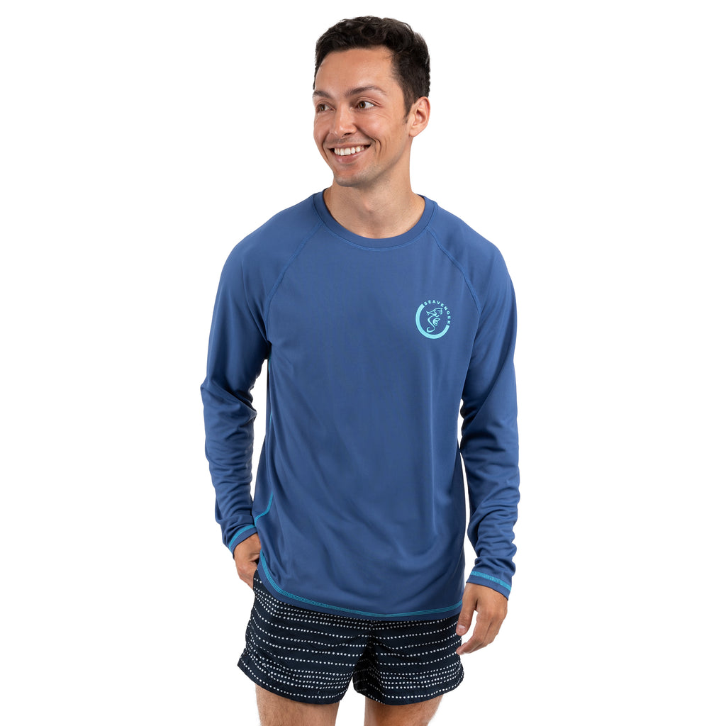 Trekker Unisex Rash Guard Long Sleeve Navy