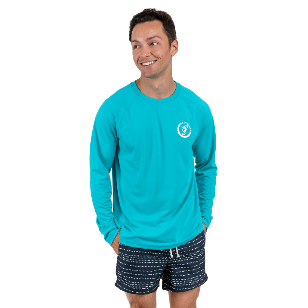 Trekker Unisex Rash Guard Long Sleeve Teal
