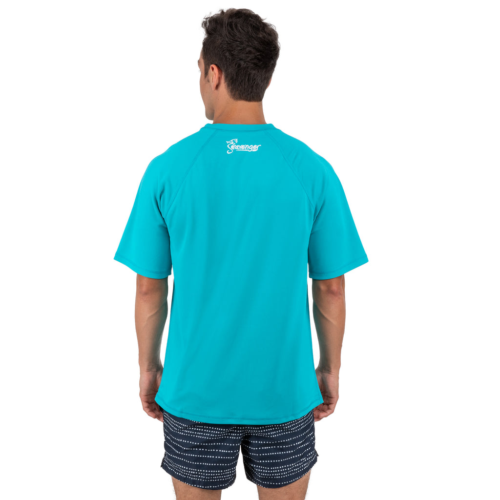 Trekker Unisex Rash Guard Short Sleeve Teal