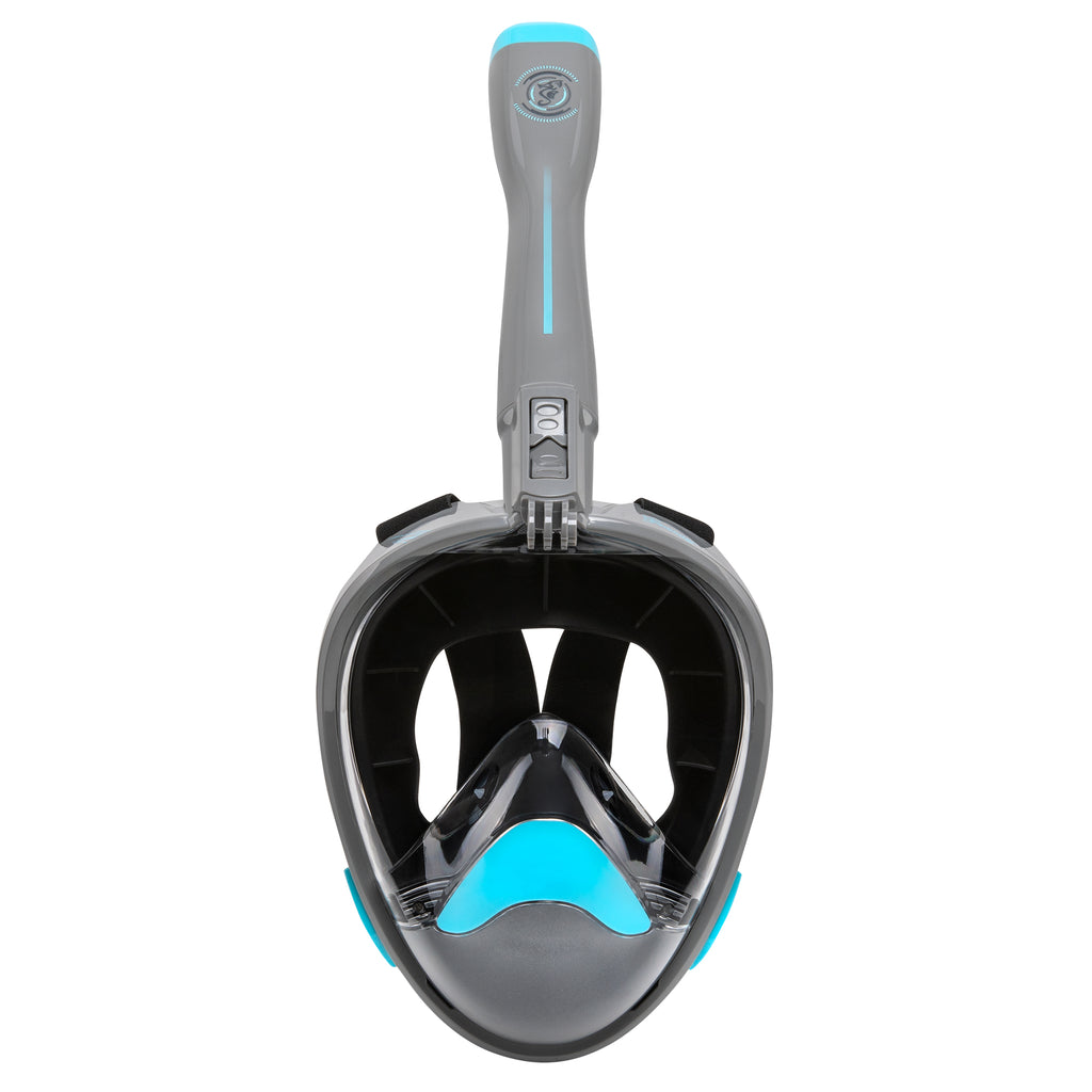 Nautilus Blue Gray Full Face Snorkel Mask