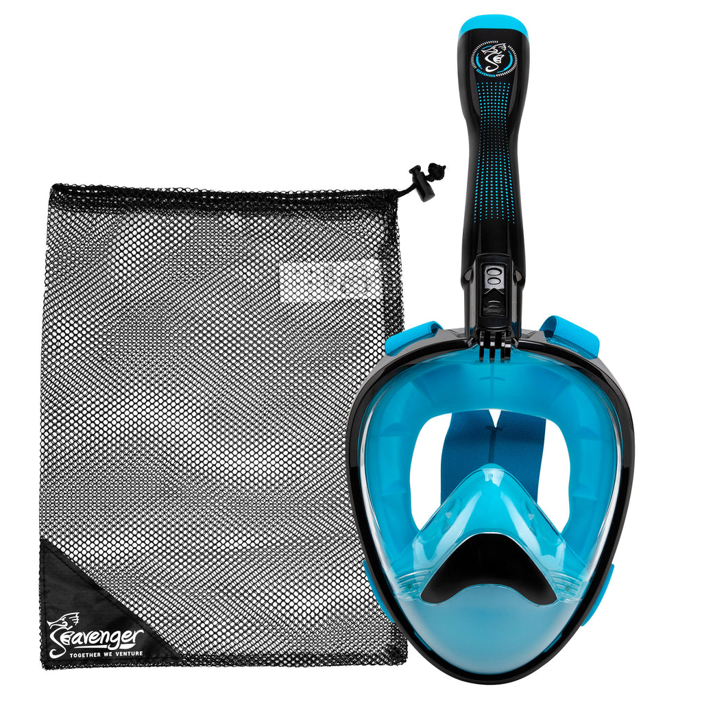 Nautilus Blue Full Face Snorkel Mask