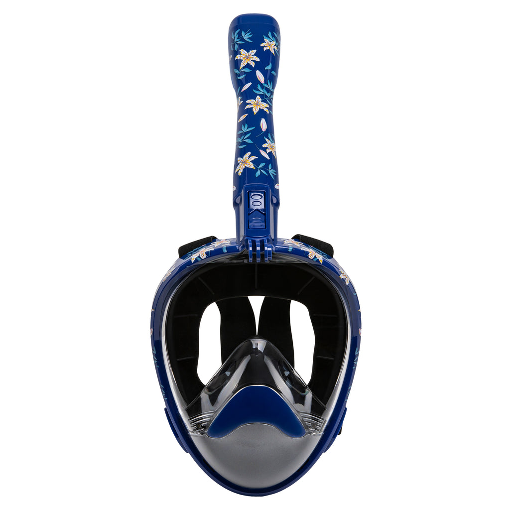 Nautilus Dark Floral Full Face Snorkel Mask
