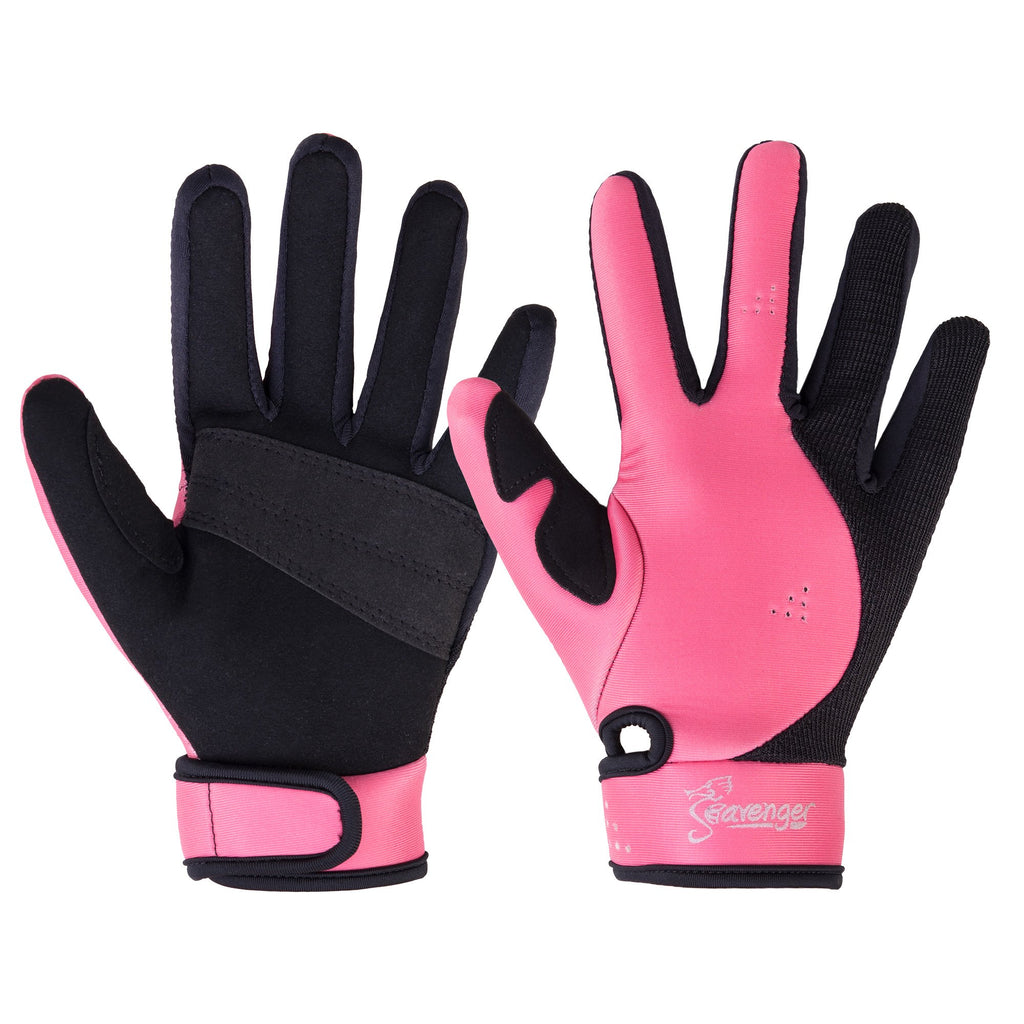 pink neoprene dive gloves