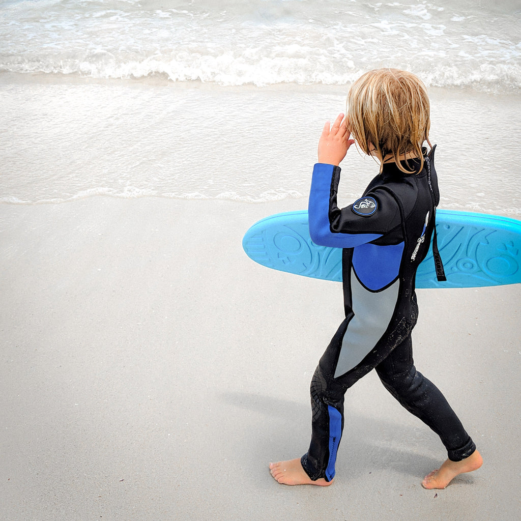 3mm blue neoprene child wetsuit picture 3