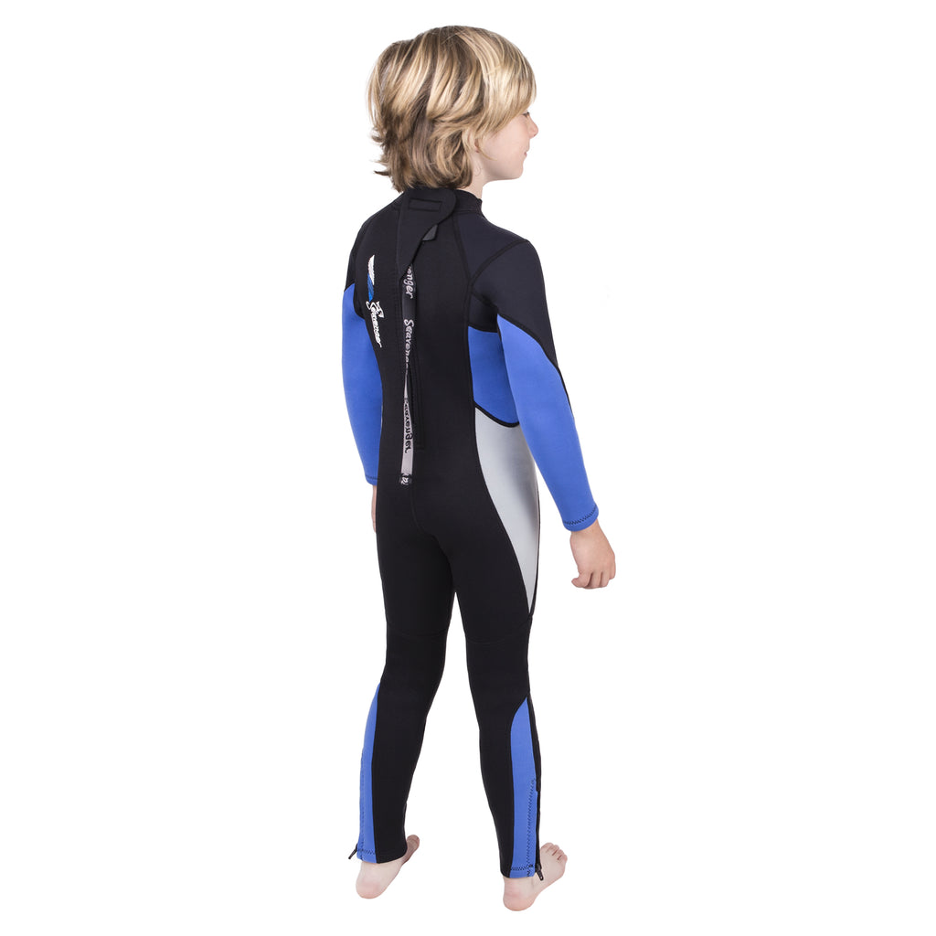 3mm blue neoprene child wetsuit picture 2
