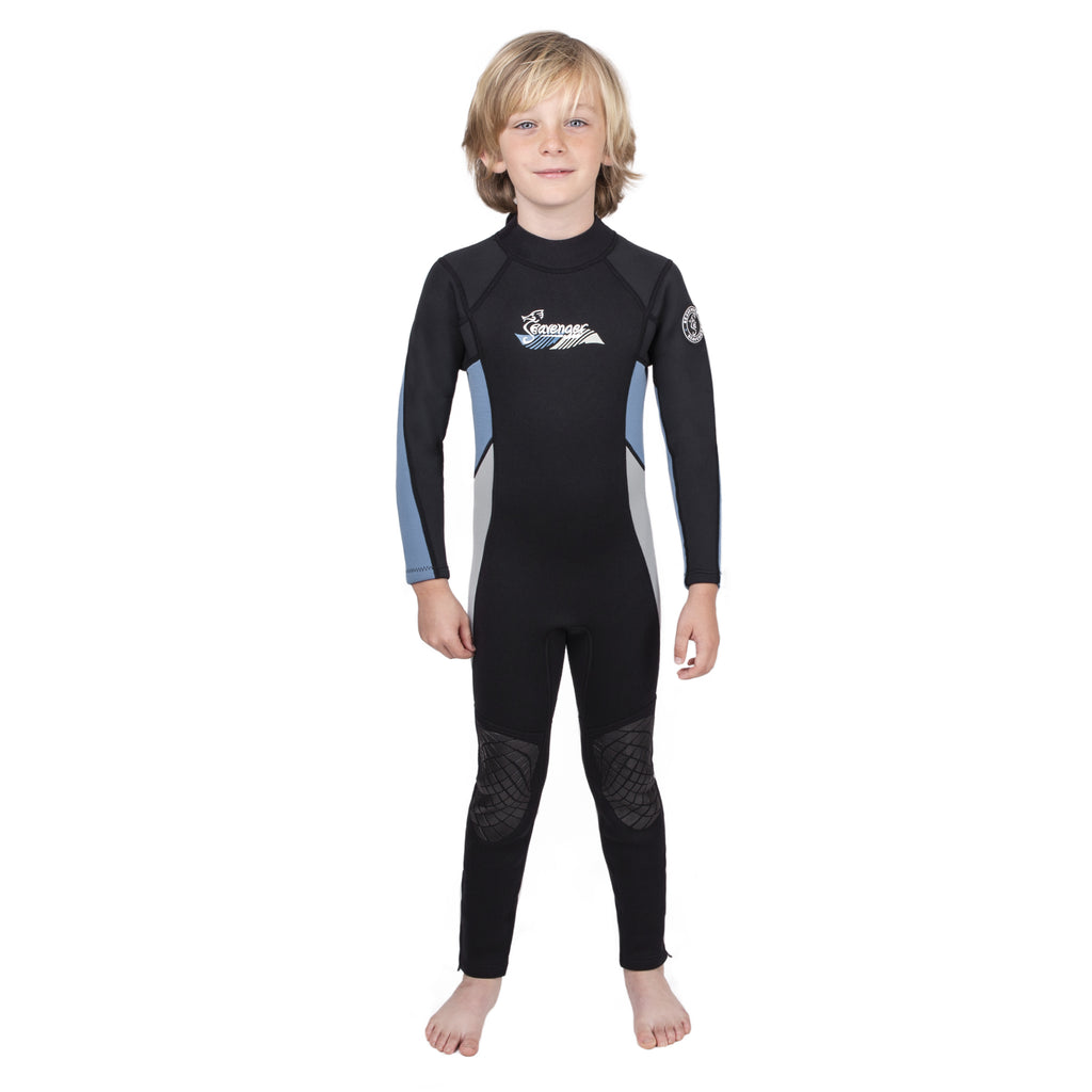 3mm light blue neoprene child wetsuit