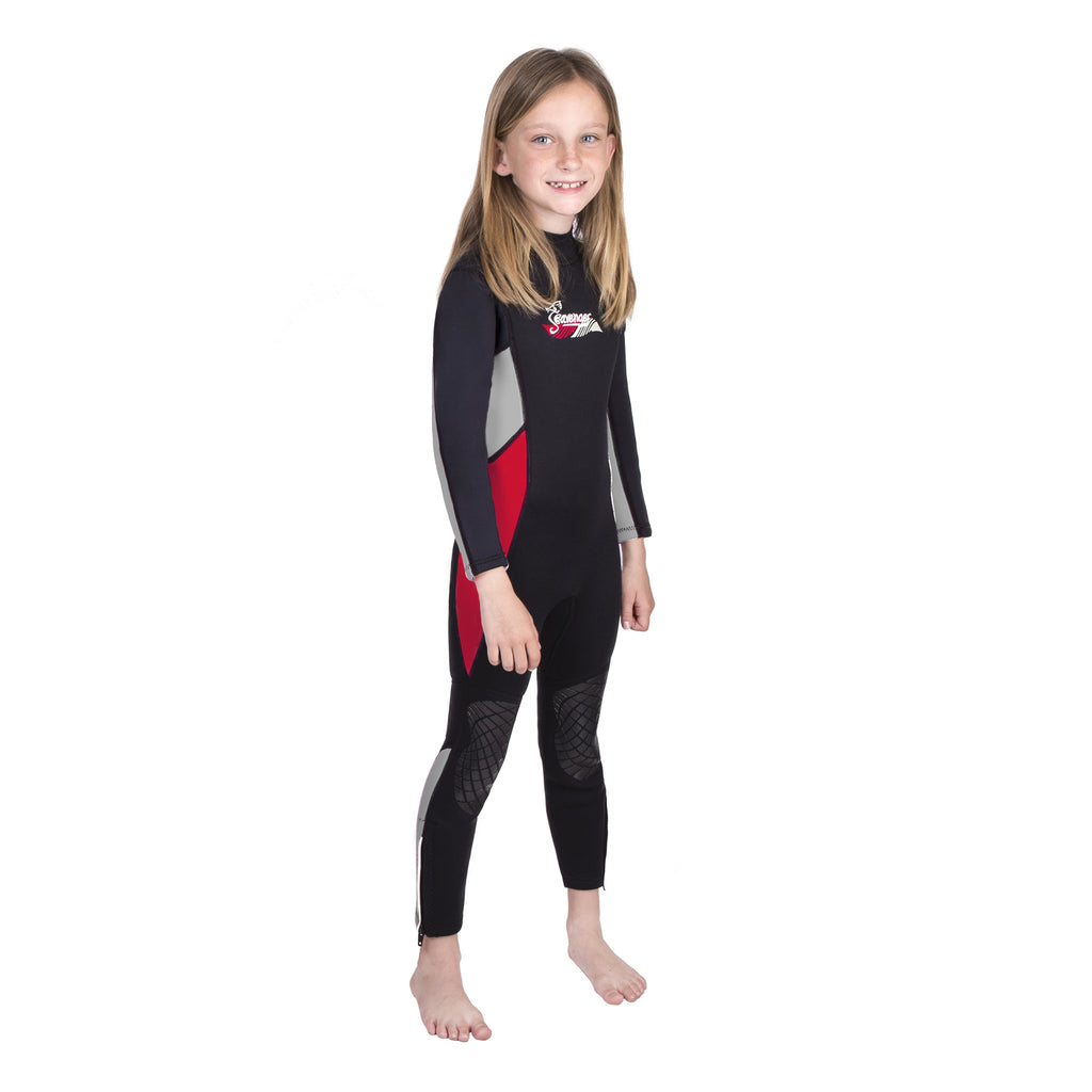 3mm red neoprene child wetsuit
