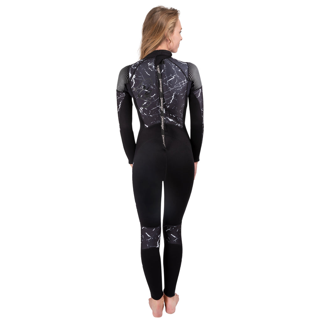 Alpha 3mm Women's Wetsuit - Black Marble