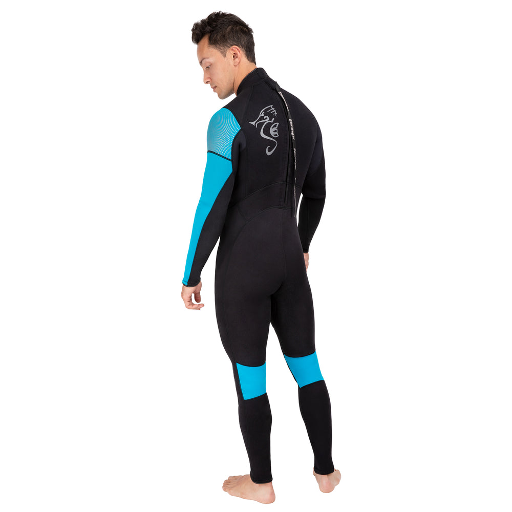 Men's Odyssey Surfing Wetsuit - Electric Blue