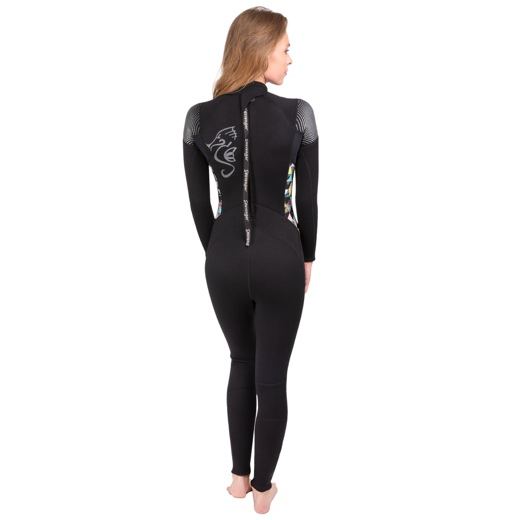 Women's Odyssey Full Wetsuit - Geometric Palm