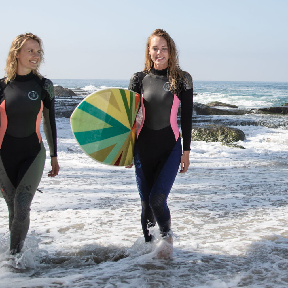 Women's Odyssey Full Wetsuit - Navy Pink