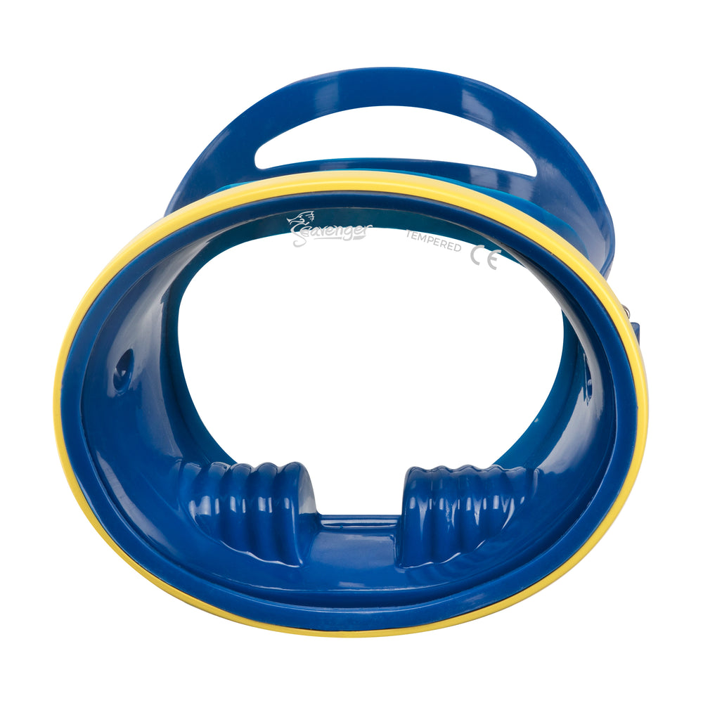 Hydra Oval Dive Mask - Cobalt/Yellow