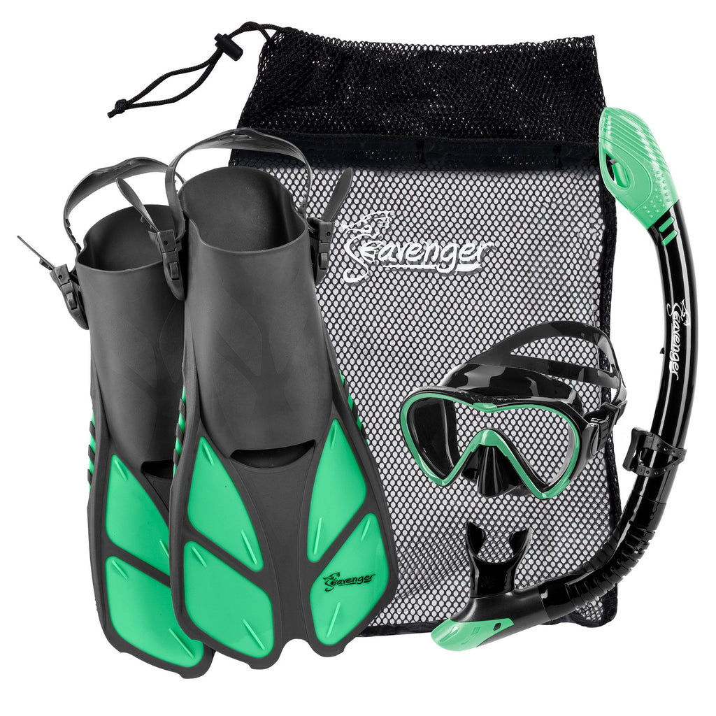 peppermint green Seavenger snorkel set
