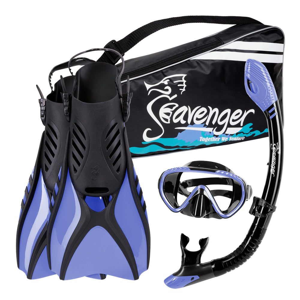 light purple Seavenger snorkel set